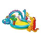 Intex-57135NP Dinoland Play Center-Centro de juegos acuático hinchable, modelo surtido (con y sin volcán),...