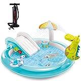 Hadishi Piscina Inflable, Jumbo Deluxe Baby Sand Pool Ocean Ball Pool Inflable Piscina Familiar Verano Niños...