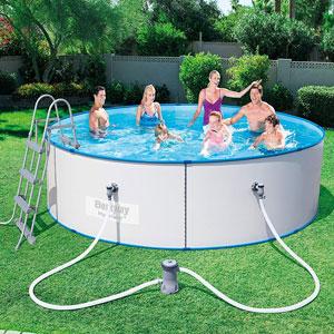 piscinas desmontables acero